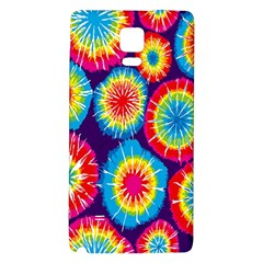 Tie Dye Circle Round Color Rainbow Red Purple Yellow Blue Pink Orange Galaxy Note 4 Back Case by Alisyart