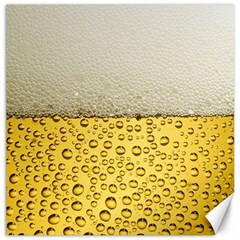 Water Bubbel Foam Yellow White Drink Canvas 16  X 16   by Alisyart