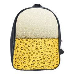 Water Bubbel Foam Yellow White Drink School Bags(large)  by Alisyart