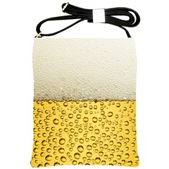 Water Bubbel Foam Yellow White Drink Shoulder Sling Bags by Alisyart