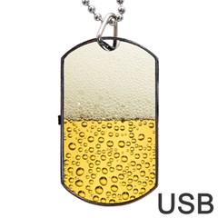 Water Bubbel Foam Yellow White Drink Dog Tag Usb Flash (one Side) by Alisyart