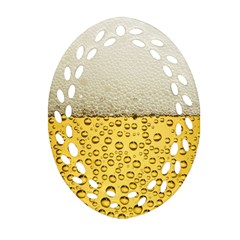 Water Bubbel Foam Yellow White Drink Ornament (oval Filigree) by Alisyart
