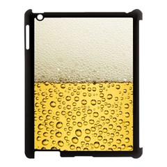 Water Bubbel Foam Yellow White Drink Apple Ipad 3/4 Case (black) by Alisyart