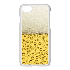 Water Bubbel Foam Yellow White Drink Apple Iphone 7 Seamless Case (white) by Alisyart