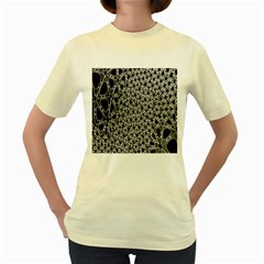 X Ray Rendering Hinges Structure Kinematics Circle Star Black Grey Women s Yellow T Shirt by Alisyart