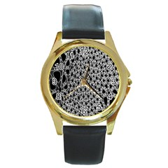 X Ray Rendering Hinges Structure Kinematics Circle Star Black Grey Round Gold Metal Watch by Alisyart