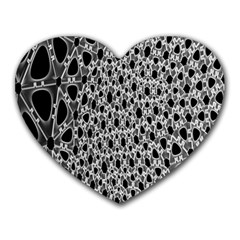 X Ray Rendering Hinges Structure Kinematics Circle Star Black Grey Heart Mousepads by Alisyart