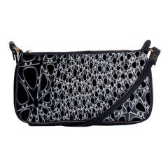X Ray Rendering Hinges Structure Kinematics Circle Star Black Grey Shoulder Clutch Bags by Alisyart