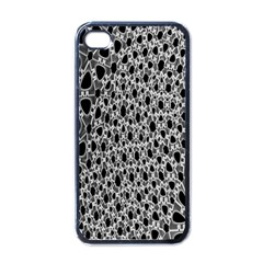 X Ray Rendering Hinges Structure Kinematics Circle Star Black Grey Apple Iphone 4 Case (black) by Alisyart
