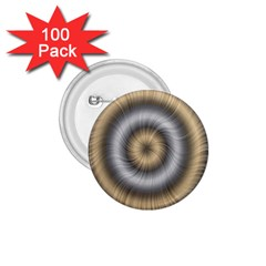 Prismatic Waves Gold Silver 1 75  Buttons (100 Pack)  by Alisyart