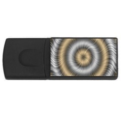 Prismatic Waves Gold Silver Usb Flash Drive Rectangular (4 Gb) by Alisyart