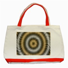 Prismatic Waves Gold Silver Classic Tote Bag (red) by Alisyart