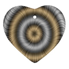 Prismatic Waves Gold Silver Heart Ornament (two Sides) by Alisyart