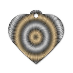 Prismatic Waves Gold Silver Dog Tag Heart (one Side) by Alisyart