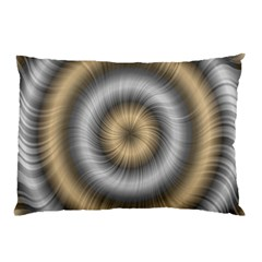 Prismatic Waves Gold Silver Pillow Case by Alisyart