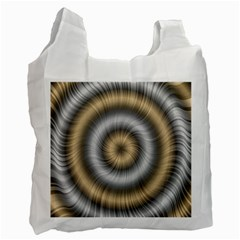 Prismatic Waves Gold Silver Recycle Bag (one Side) by Alisyart