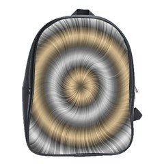 Prismatic Waves Gold Silver School Bags(large)  by Alisyart