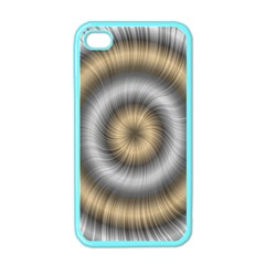 Prismatic Waves Gold Silver Apple Iphone 4 Case (color) by Alisyart