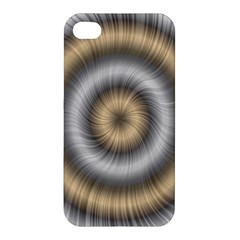 Prismatic Waves Gold Silver Apple Iphone 4/4s Premium Hardshell Case by Alisyart