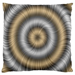 Prismatic Waves Gold Silver Large Cushion Case (one Side) by Alisyart
