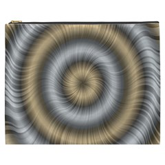 Prismatic Waves Gold Silver Cosmetic Bag (xxxl)  by Alisyart