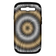 Prismatic Waves Gold Silver Samsung Galaxy S Iii Hardshell Case (pc+silicone) by Alisyart
