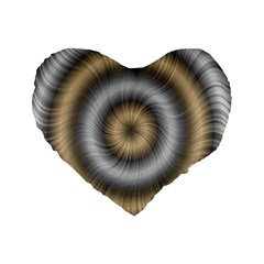 Prismatic Waves Gold Silver Standard 16  Premium Heart Shape Cushions by Alisyart