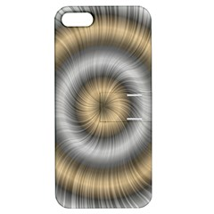 Prismatic Waves Gold Silver Apple Iphone 5 Hardshell Case With Stand by Alisyart