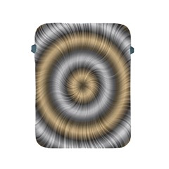 Prismatic Waves Gold Silver Apple Ipad 2/3/4 Protective Soft Cases by Alisyart