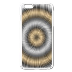 Prismatic Waves Gold Silver Apple Iphone 6 Plus/6s Plus Enamel White Case by Alisyart