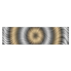 Prismatic Waves Gold Silver Satin Scarf (oblong) by Alisyart