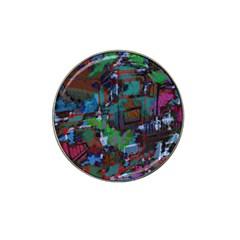 Dark Watercolor On Partial Image Of San Francisco City Mural Usa Hat Clip Ball Marker (10 Pack) by Simbadda