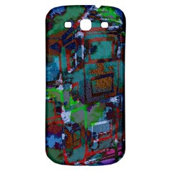 Dark Watercolor On Partial Image Of San Francisco City Mural Usa Samsung Galaxy S3 S Iii Classic Hardshell Back Case by Simbadda