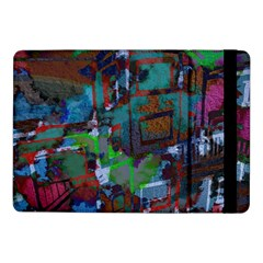 Dark Watercolor On Partial Image Of San Francisco City Mural Usa Samsung Galaxy Tab Pro 10 1  Flip Case by Simbadda