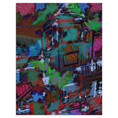 Dark Watercolor On Partial Image Of San Francisco City Mural Usa Drawstring Bag (large) by Simbadda