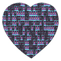 Techno Fractal Wallpaper Jigsaw Puzzle (heart) by Simbadda