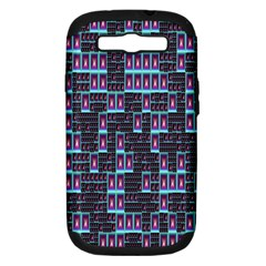 Techno Fractal Wallpaper Samsung Galaxy S Iii Hardshell Case (pc+silicone) by Simbadda