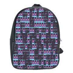Techno Fractal Wallpaper School Bags (xl)  by Simbadda