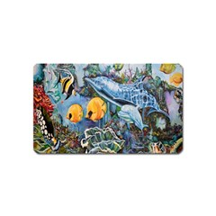 Colorful Aquatic Life Wall Mural Magnet (name Card) by Simbadda