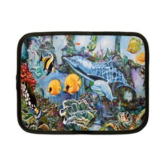 Colorful Aquatic Life Wall Mural Netbook Case (small)  by Simbadda