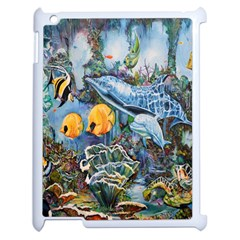Colorful Aquatic Life Wall Mural Apple Ipad 2 Case (white) by Simbadda