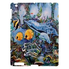 Colorful Aquatic Life Wall Mural Apple Ipad 3/4 Hardshell Case by Simbadda