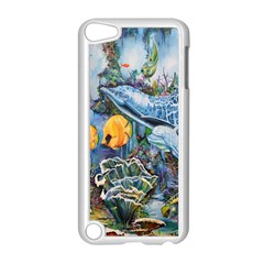 Colorful Aquatic Life Wall Mural Apple Ipod Touch 5 Case (white) by Simbadda
