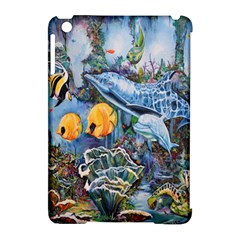 Colorful Aquatic Life Wall Mural Apple Ipad Mini Hardshell Case (compatible With Smart Cover) by Simbadda