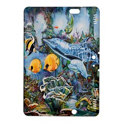 Colorful Aquatic Life Wall Mural Kindle Fire Hdx 8 9  Hardshell Case by Simbadda