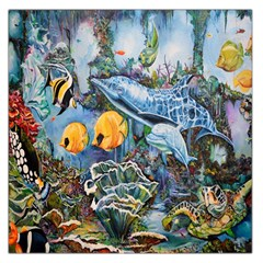 Colorful Aquatic Life Wall Mural Large Satin Scarf (square) by Simbadda