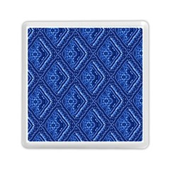 Blue Fractal Background Memory Card Reader (square)  by Simbadda