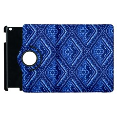 Blue Fractal Background Apple Ipad 2 Flip 360 Case by Simbadda