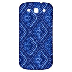 Blue Fractal Background Samsung Galaxy S3 S Iii Classic Hardshell Back Case by Simbadda