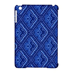 Blue Fractal Background Apple Ipad Mini Hardshell Case (compatible With Smart Cover) by Simbadda